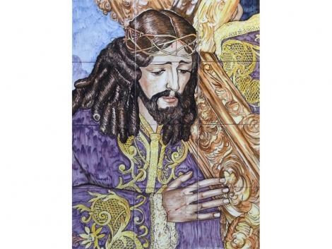 """Mural de azulejos de cerámica Cristo """"Los Moraos"""""""