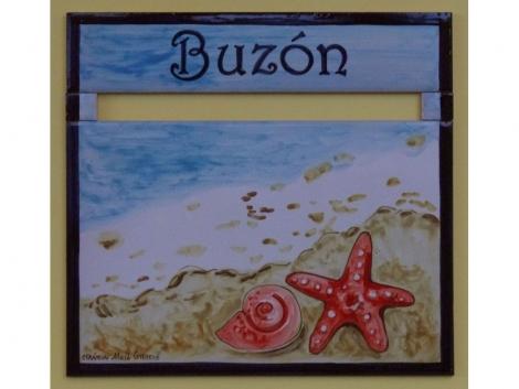 Buzón Cerámico estrella de mar