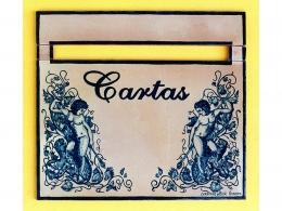 Buzón de cerámica hecho a mano Ángeles Azules