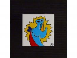 Azulejo de cerámica Museo Picasso Málaga caballo