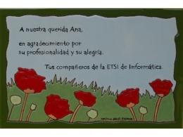 Placa de cerámica de agradecimiento amapolas