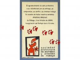 Placa de cerámica de agradecimiento personalizada