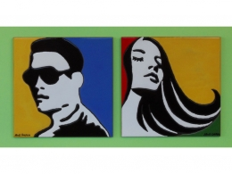 Azulejos de cerámica indicativos para baños pop