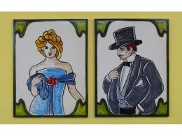 Azulejos de cerámica indicativos para baños cuerda seca