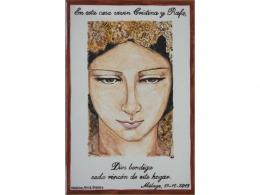 Placa de cerámica religiosa Boda
