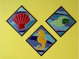 Azulejos de ceramica decorativos marinos