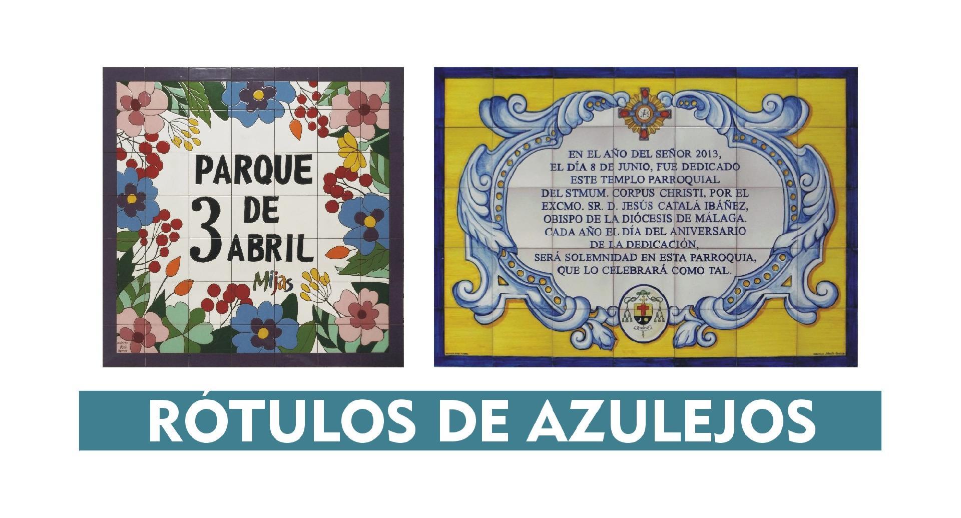 RÓTULOS DE AZULEJOS DE CERÁMICA