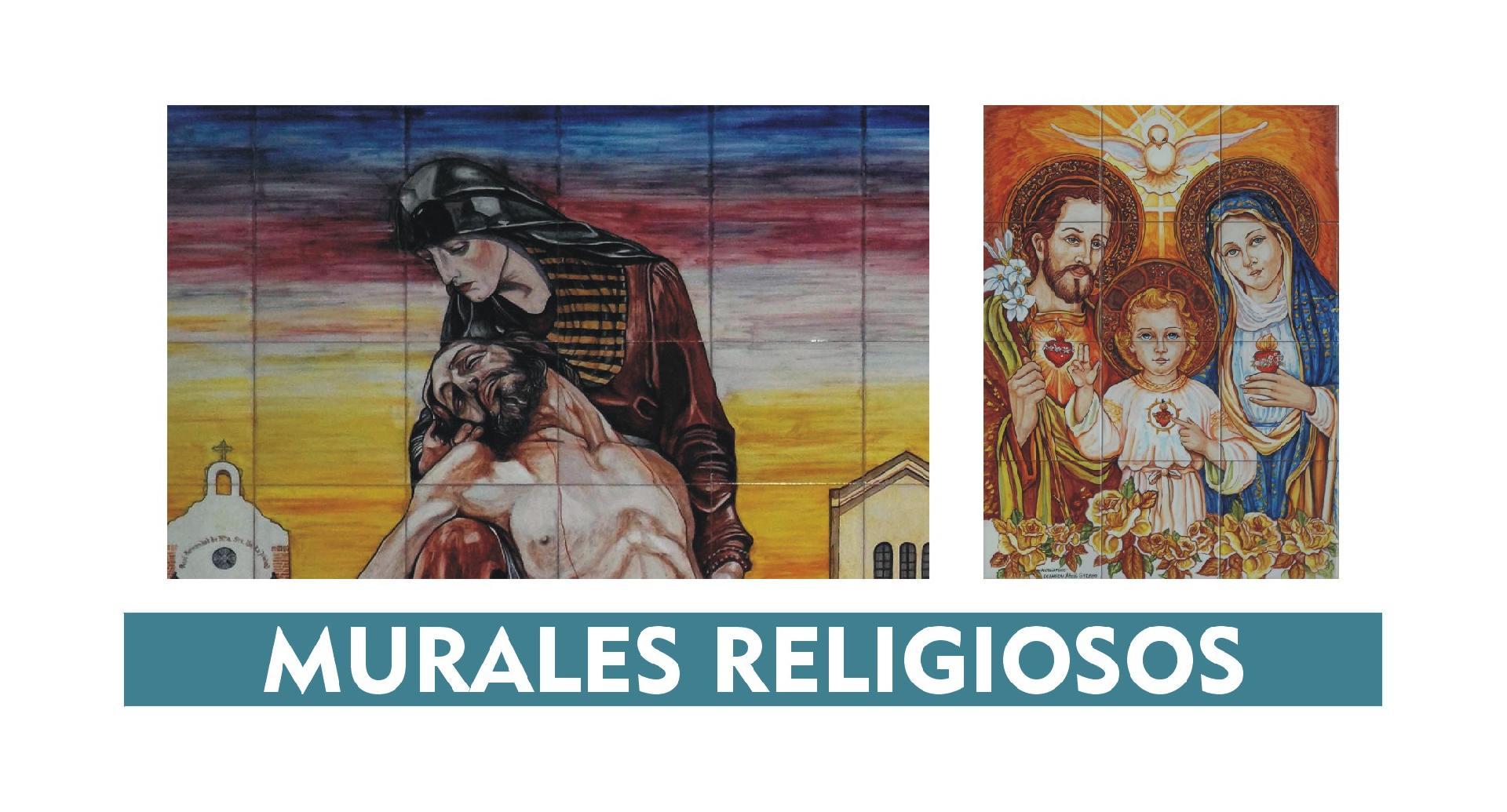 MURALES RELIGIOSOS vírgen y cristo
