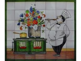mural,ceramica,azulejo,bodegon,ceramica,chef,decoracion