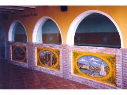 mural,ceramica,decorativo,azulejo,reproduccion,vista,pintadoamano,artesano,vista,malaga,porencargo,alcazaba,farola,plaza,toros,artesania,tile,ceramic,muraldeceramica,muralceramico