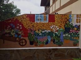 calas,ceramica,decorativo,azulejo,reproduccion,obras,pintadoamano,artesano,muraldeceramica,muralceramico,porencargo,moderno,arte,copia,tile,ceramic,flores,patio,macetas,carretilla