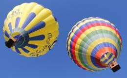 Ballooning over vineyards