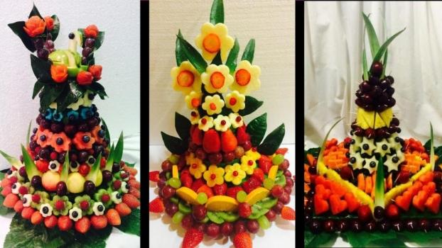 Frutas y platos infantiles llenos de arte