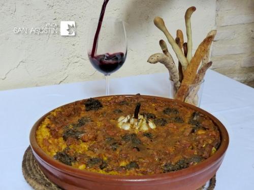 """El mejor """"arroz al horno"""" en finca San Agustín"""