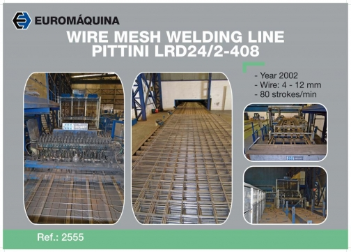 2555-Línea de soldadura de alambre PITTINI LRD 24/2-408