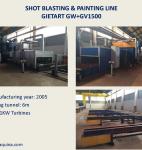 GIETART Shot Blasting & Painting Line GW + GV1500