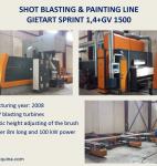 3109 Automatic Shot Blasting Line GIETART Sprint...