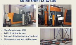 GIETART Línea Granallado Automática Sprint 2.6