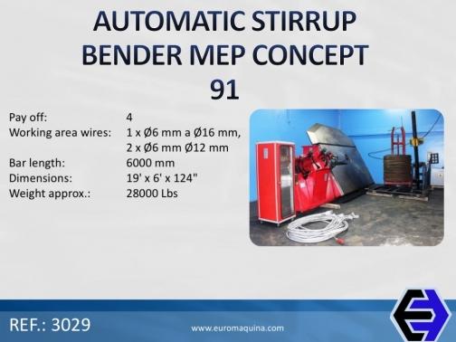 3029 Automatic Stirrup Bender MEP Concept 91