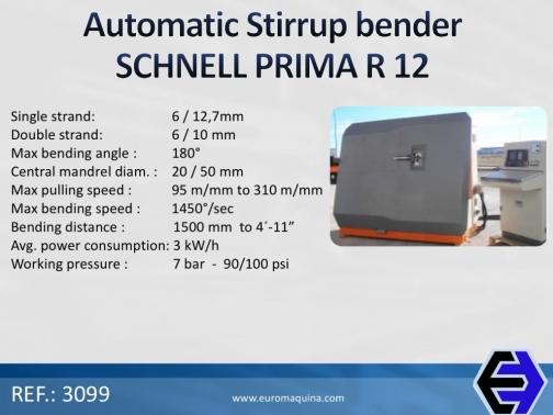 SCHNELL Estribadora Automática PRIMA R 12