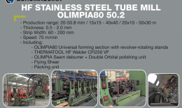 OLIMPIA 80 HF Stainless Tube Mill 50.8x2.5