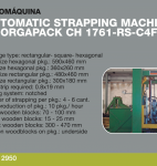 Strapping Machine ORGAPACK CH 1761-RS-C4F