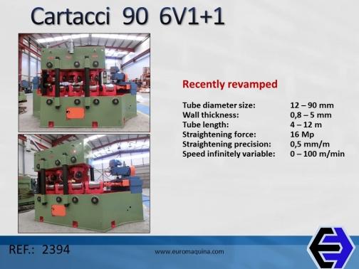 2394 Enderezadora de Tubo Cartacci 6V1+1
