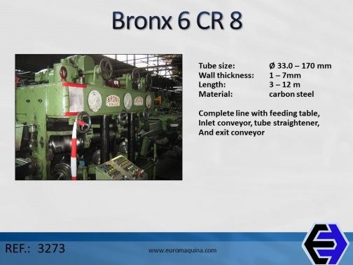 Enderezadora Tubo Bronx 6 CR 8