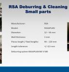 Cepillado y lavado de piezas pequeñas RSA