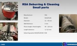 RSA SLK500 Cepillado y lavado de piezas pequeñas