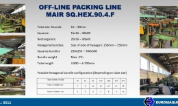 MAIR OFF-LINE Packing line SQ.HEX.90.4.F
