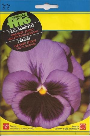 PENSAMIENTO GIGANTE SUIZO VIOLETA CENTRO NEGRO (0,45 gr.).