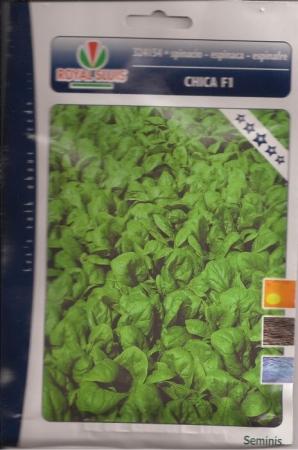 ESPINACA CHICA F1 (Cerca de 19 gr.).