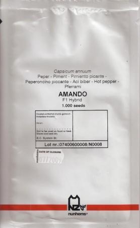 PIMIENTO AMANDO F-1 (1.000 Semillas)