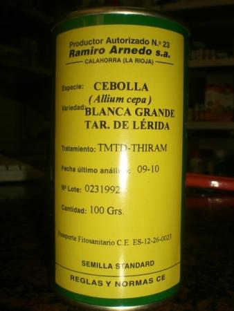 CEBOLLA BLANCA GRANDE TARDIA DE LERIDA (100 gr.).