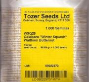 CALABAZA BUTTERNUT WALTHAM (1000 Semillas).