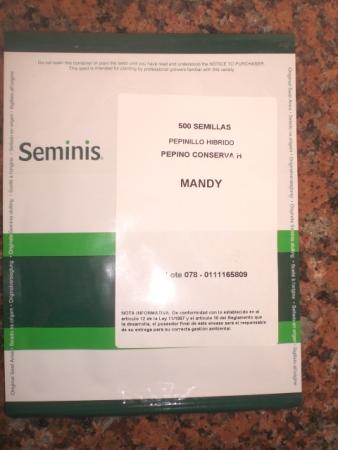 PEPINO MANDY F1 (500 Semillas)