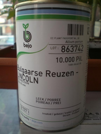 PUERRO LINCOLN (Bulgaarse Reuzen) Pildorado y Pregerminado (25.000 Semillas)