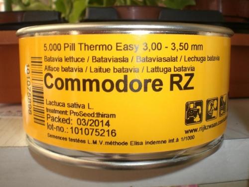 LECHUGA COMMODORE RZ Pildorada (5.000 Semillas).