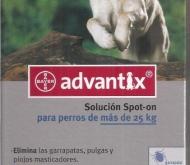 ADVANTIX PERROS DE MAS DE 25 KILOS (6 Unid.).