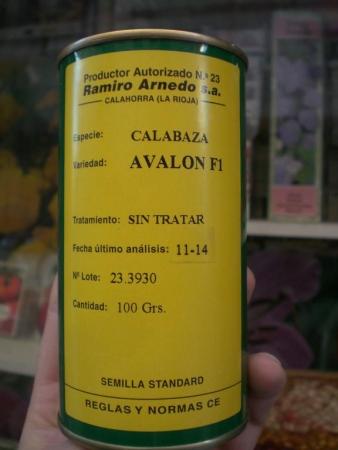 CALABAZA AVALON F1 (100 gr.).
