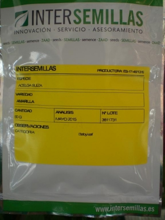 ACELGA SUIZA AMARILLA BABY LEAF (50 gr.).