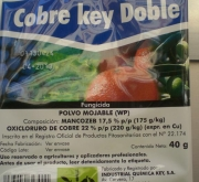 COBRE KEY DOBLE Sin Colorante Azul (40 gr.)