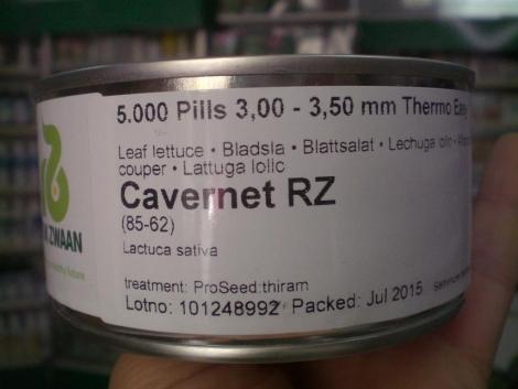 LECHUGA CAVERNET RZ Pildorada (5.000 Semillas).
