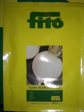 NABO GRELO GLOBO BLANCO DE LUGO (Forrajero) (100 gr.).