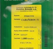 PIMIENTO CABAÑEROS F1 (1000 Semillas)