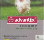 ADVANTIX PERROS DE MENOS DE 4 KILOS (6 Unid.).