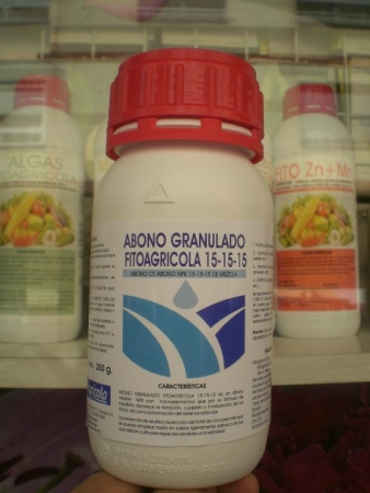 ABONO GRANULADO FITOAGRICOLA 15-15-15 (250 gr.)