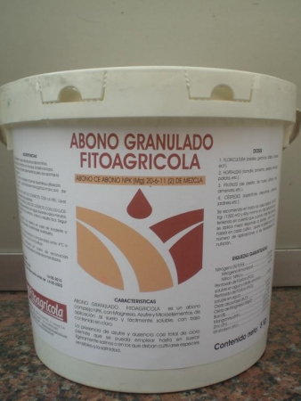 ABONO GRANULADO FITOAGRICOLA 20-6-11 (5 Kgr.).