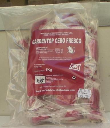 GARDEN TOP CEBO FRESCO (1Kgr. - Bolsa con 66x15 gr.)